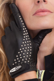 71800 - Jet Cabretta Leather Glove with Rivets Detail