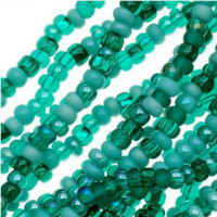 Czech Seed Beads 11/0 Turquoise Fetish Mix (1 Hank)