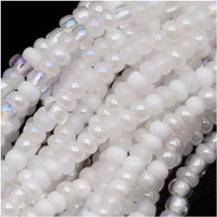 Czech Seed Beads 11/0 White Wedding Mix (1 Hank)