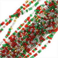 Czech Seed Beads 11/0 Deck The Halls Christmas Mix (1 Hank)
