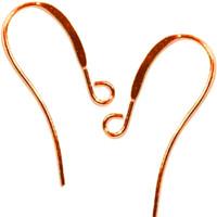 UnCommon Artistry Copper Plated Long Elegant Earring Hooks (50)
