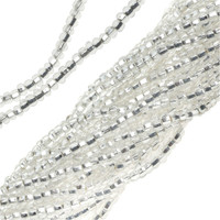 Czech Seed Beads Crystal Silver Lined 11/0  (1 Hank)
