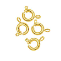 Gold Plated Spring Ring Clasps 6mm (25)