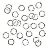 Silver Plated Twisted Open Jump Rings 6mm 16 Gauge (25)