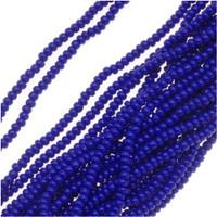 Czech Seed Beads Royal Blue Opaque 11/0  (1 Hank)