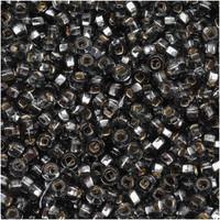 Czech Seed Beads 8/0 Black Diamond Silver Lined (1 ounce)