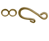 Brass Hook And Eye Clasps (2 Sets)