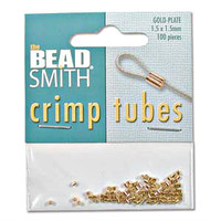 Gold Plated Crimp Beads 1.5x1.5mm (100)