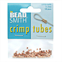 Copper Plated Crimp Beads 2x2mm (100)