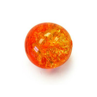 Czech Glass Druk 6mm Round Crackle Fire Opal (50)