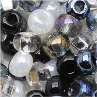Czech Seed Beads 6/0 Top Hat Mix (1 ounce)