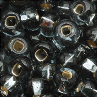 Czech Seed Beads 6/0 Black Diamond Silver Lined (1 ounce)