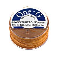 Toho One-G Beading Thread Orange, 50 Yard spool