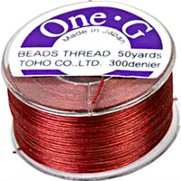 Toho One-G Beading Thread Red, 50 Yard spool