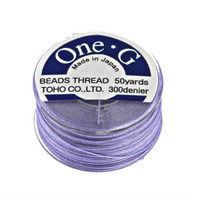 Toho One-G Beading Thread Light Lavender, 50 Yard spool