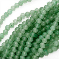 Green Aventurine 4mm Round Beads 16 In.Strand