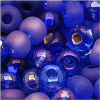 Czech Seed Beads 6/0 Blue Moon Mix (1 ounce)