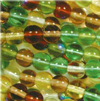 Czech Glass Druk 4mm Round Earth Tones Mix (100)