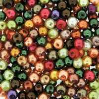 UnCommon Artistry Glass Pearl Mix 100pcs 8mm- Fall Mix