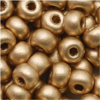 Czech Seed Beads 6/0 Light Gold Supra Metallic (1 ounce)