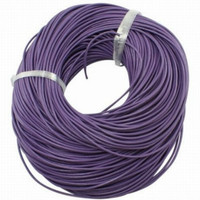 15 Ft of Purple Genuine Leather Cord Round 2mm Diameter