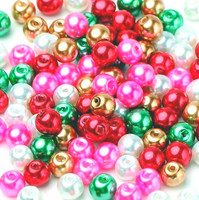 UnCommon Artistry Glass Pearl Mix 200pcs 4mm - Christmas Mix