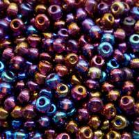 Czech Seed Beads 6/0 Amethyst AB (1 ounce)