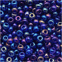 Czech Seed Beads 6/0 Cobalt Blue AB (1 ounce)