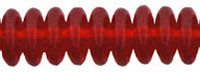 Czech Pressed Glass Rondelle  4mm Siam Ruby (100)