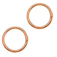 UnCommon Artistry 8mm Bright Copper Open Jump Rings 18g. (20)