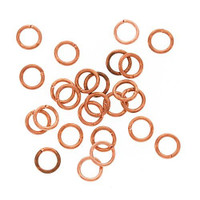 UnCommon Artistry 6mm Bright Genuine Copper Open Jump Rings 21g. (50)