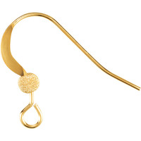 UnCommon Artistry® 14k Gold Filled French Ear Wire Hooks W Stardust Ball & Coil (4 pcs)