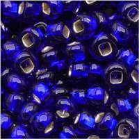 Czech Seed Beads 8/0 Cobalt Blue Silver Lined (1 ounce)