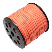 Faux Leather Suede Beading Cord, Creamsicle Orange (20 feet)