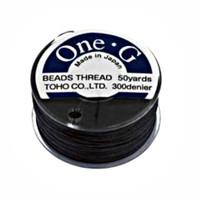 Toho One-G Beading Thread Black, 50 Yard spool