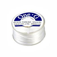 Toho One-G Beading Thread White, 50 Yard spool