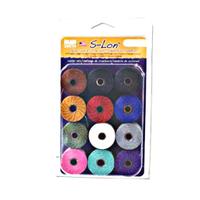 Super-Lon Cord - Size 18 Cord - Adrienne Gaskell Mix (12 spools)