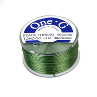 Toho One-G Beading Thread Green, 50 Yard spool