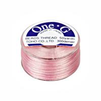 Toho One-G Beading Thread Pink, 50 Yard spool