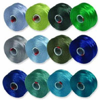 S-Lon Beading Thread Mixture 12 Colors Size D - Ocean Mix
