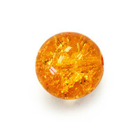 Czech Glass Druk 6mm Round Crackle Topaz (50)