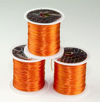 Elastic Stretchy Cord 30 Meters Dark Orange