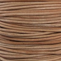Genuine Leather Cord - 2mm - Round- Natural