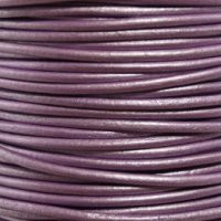 Genuine Leather Cord - 2mm - Round- Lavender Pearl