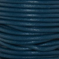 Genuine Leather Cord - 2mm - Round- Iris Blue