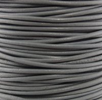 Genuine Leather Cord - 2mm - Round- Dark Gray