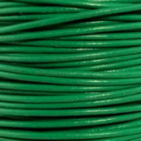 Genuine Leather Cord - 2mm - Round- Light Green