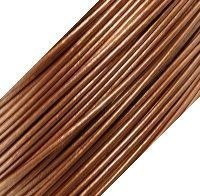Genuine Leather Cord - 1mm - Round- Metallic Bronze