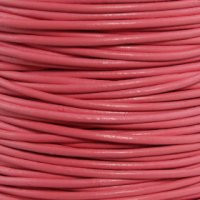 Genuine Leather Cord - 2mm - Round- Rose Pink