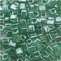 Miyuki 4mm Glass Cube Beads Sea Foam Luster (#2445) (20 grams)